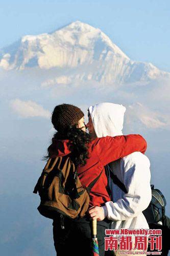 最后一天,Poon Hill山顶的�t望台,是让到达此线路的每个人都绝对难忘的地方。