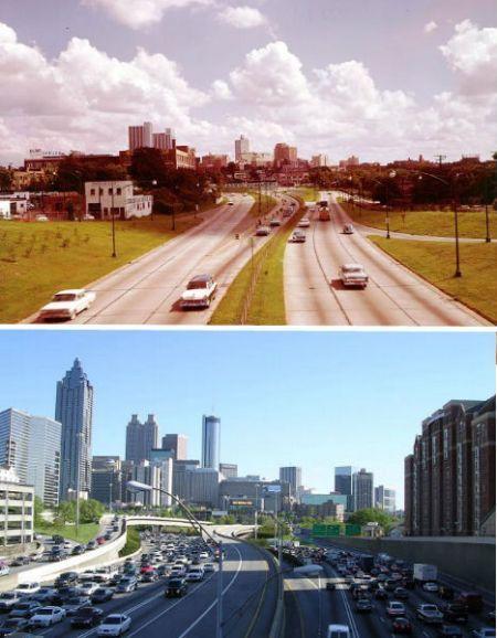 亚特兰大1964年和2004年对比照