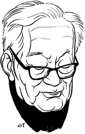巴金(1904-2005),现代文学家、出版家、翻译家。(丁聪绘)