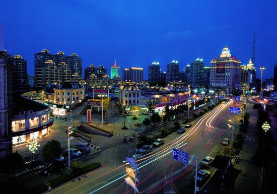 启东市区夜景