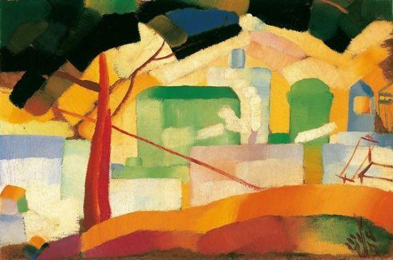 朱沅芷《加州风景》油彩木板 30.5×45.5cm 1926