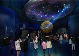 序厅中央展示挑战的象征――罗盘(韩国丽水世博会官网)