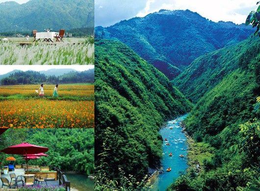 广州响水峡漂流,这里有大片的花海,美丽的峡谷,烟雨蒙蒙的瀑布,原生态