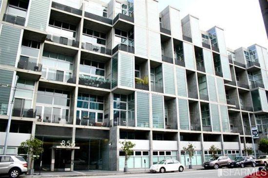 旧金山市内公寓图。