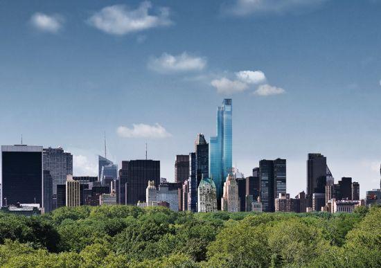 One57大楼将于今年完工,高达306米,为纽约市最高公寓楼。