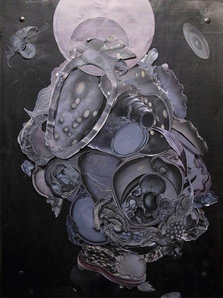 林其蔚作品《端砚》(Ⅱ) ,这次他带来三组素描以及物件组合