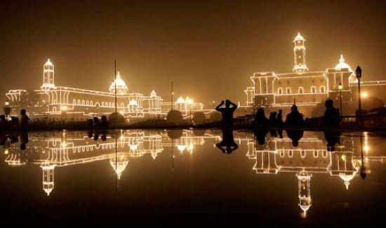 新德里的夜景