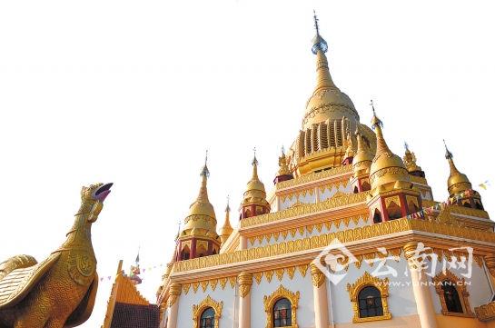 勐焕大金塔金鸡与神殿