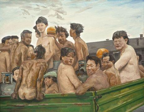 刘小东 《违章》 1996 180×230cm 估价待询 成交价 6620万港元