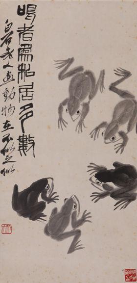 齐白石《鸣者为私居多数》 水墨纸本