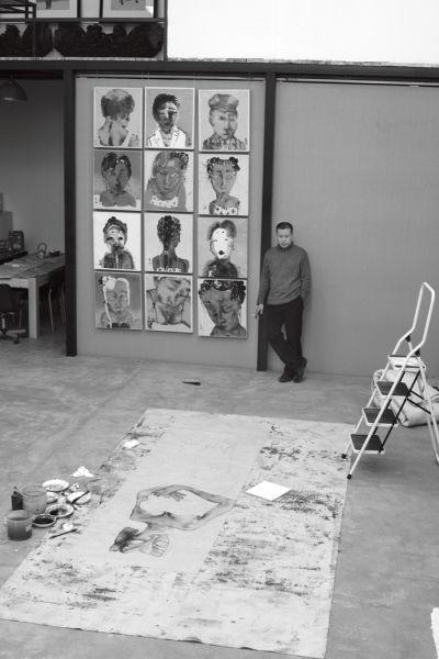 刘庆和在工作室-2006年