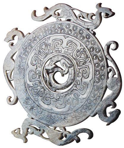 战国龙凤纹玉璧 洛阳博物馆藏