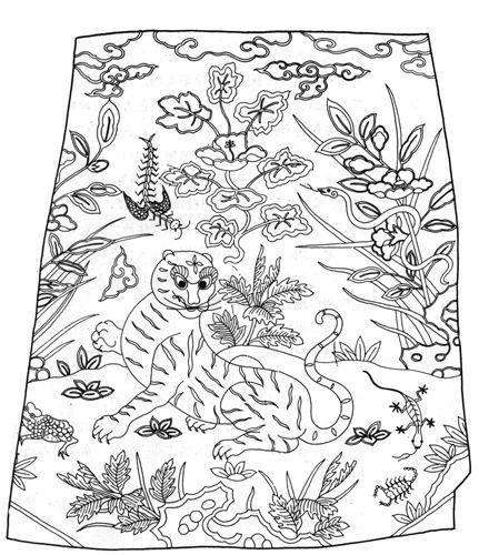 图二:艾虎五毒纹方补