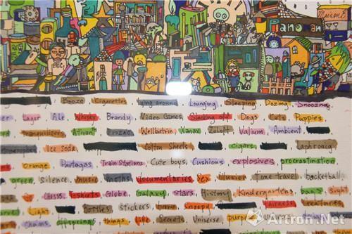 傅蕾蕾作品:《幻想中的朋友》8局部 纸本设色 27X24cm 2014年