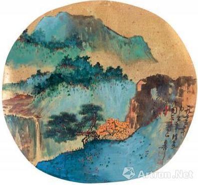 陈佩秋1975年合作的《秋山图》
