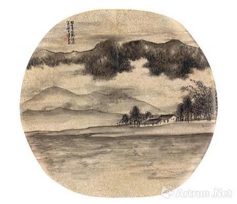 谢稚柳、陈佩秋1975年合作的《秋山图》
