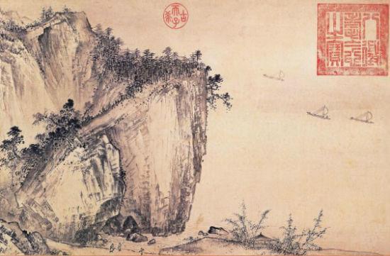 台北故宫博物馆溪山清远图卷原图(局部)