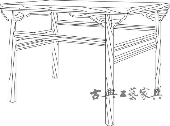 图7 河北巨鹿北宋遗址出土木桌线描图