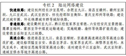 图表源自国家发改委发布的长江中游城市群发展规划