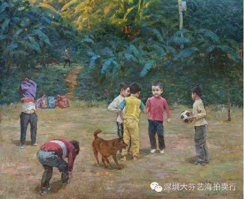 陈宏新、曾浩天 《石头·剪刀·布》 布面油画 120X160CM 2013年