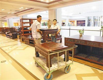业内人士认为,目前红木家具的价格已经触底。