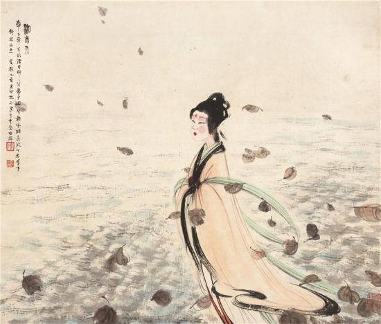 傅抱石(1904-1965) 湘夫人