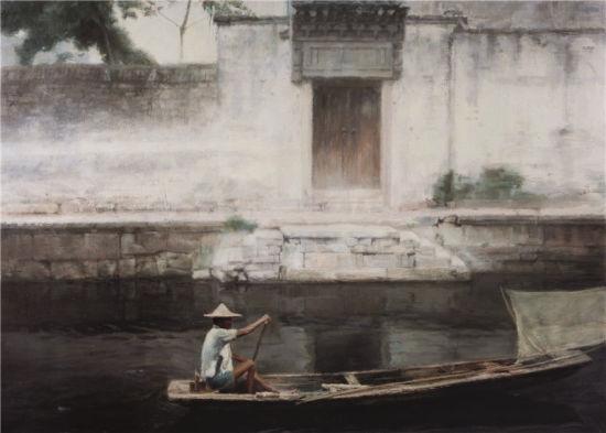 陈逸飞(1946-2005)捕虾人