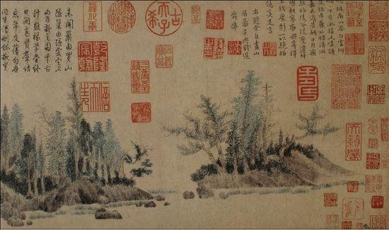 上海博物馆藏《浮于山居图》(局部)