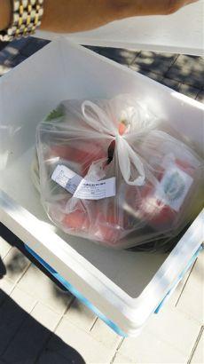 """7月2日,知春里站的快递配送核心,翻开标有""""冷藏""""的红色泡沫箱,内里未见干冰。"""