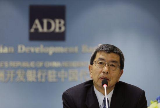 材料图:亚洲开辟银行总裁中尾武彦