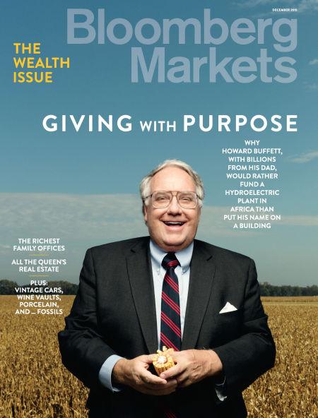 图为《彭博市场》杂志封面