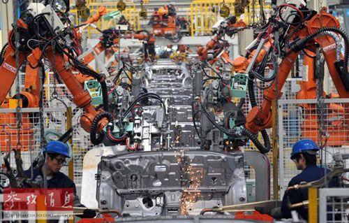 沃尔沃汽车公司在华的自动化生产车间