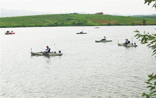 """""""科尼""""杯2016年中国舟钓公开赛舟钓现场。"""