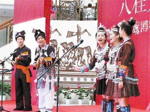 广西民族博物馆举行国庆非遗专场展演活动。 记者 赖有光 摄