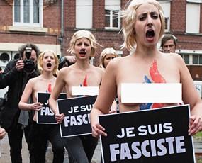 法国勒庞遭Femen成员冲击