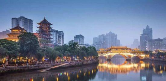成都 安顺廊桥与合江亭 (图片来源:路透社)