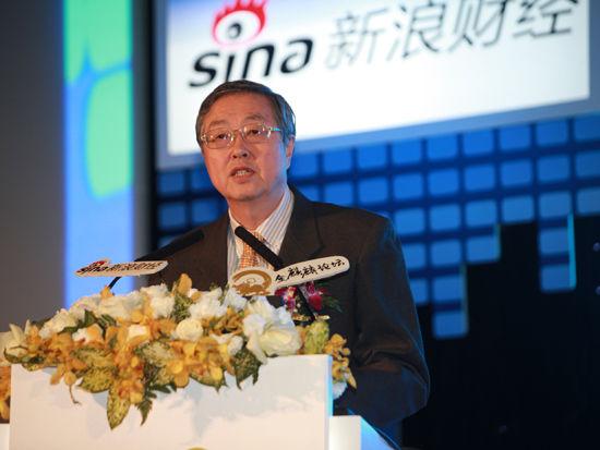 2012新浪金麒麟论坛于11月20日在北京召开,中国人民银行行长周小川在论坛上发表演讲(图片来源:新浪财经 梁斌摄)