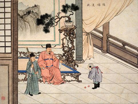 古代二十四孝故事:怀橘遗亲(图)