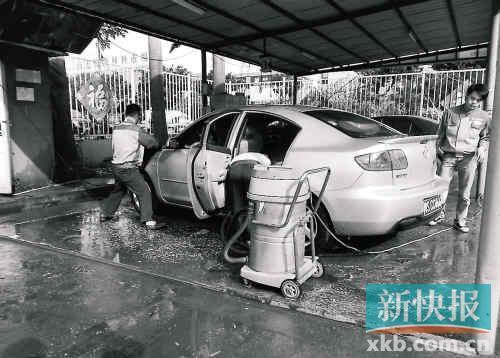 洗车等细节折射经销商的服务水平.