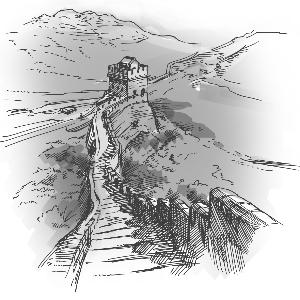 万里长城简笔画步骤图-用户5025186863