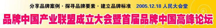 首届品牌中国高峰论坛