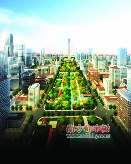 广州中轴线南段规划出炉:巴黎模式与副CBD之争
