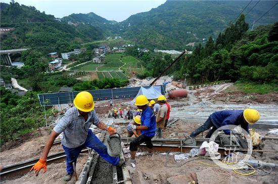 郑万铁路重庆云阳段快速推进 重庆到北京8小时