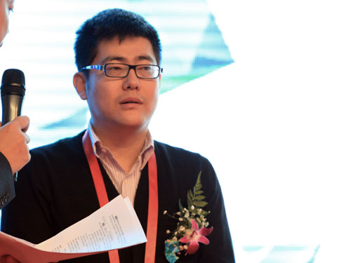 盛大文学公司首席执行官侯小强(来源:新浪财经 陈鑫 摄)