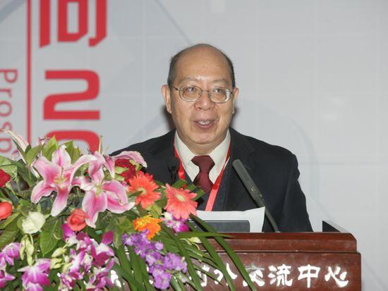 """""""第八届中国文化产业新年论坛""""于2011年1月8日-9日在北京召开。上图为上海社会科学院文化产业研究中心主任花建。(资料图片)"""