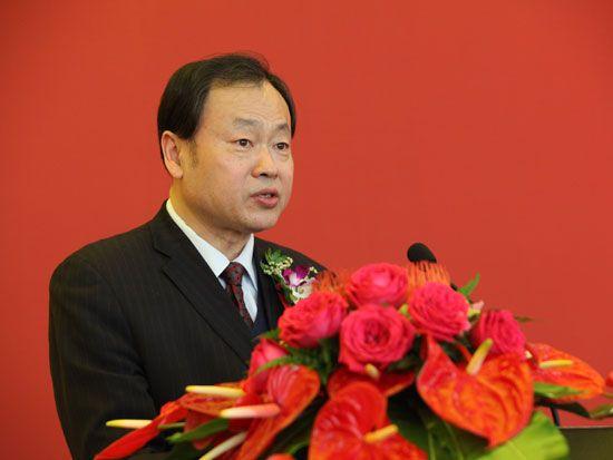 中国商业联合会副会长姜明(图片来源:新浪财经 梁斌 摄)