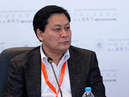 全国人大财经委副主任委员尹中卿(来源:新浪财经 陈鑫 摄)