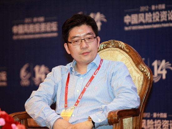 """""""2012(第十四届)中国风险投资论坛""""于2012年6月6日-9日召开,上图为启明创投合伙人胡旭波。(图片来源:新浪财经 梁斌 摄)"""