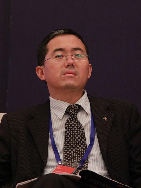 """""""第二届中国海外投资并购全球峰会""""于2012年6月15日在北京嘉里中心大酒店举行。图为中欧陆家嘴国际金融研究院副院长刘胜军发言。(来源:新浪财经 任立殿摄)"""