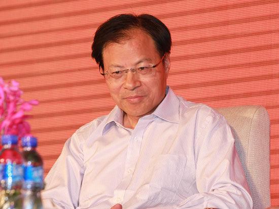 """""""2012中国民营企业500强""""发布会于8月30日在北京召开。上图为全国工商联副秘书长王忠明。(图片来源:新浪财经 梁斌 摄)"""